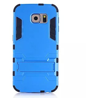 labrador X1 Samsung Galaxy S6 slim back case cover matte finish with stand Blue