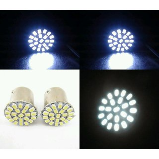 22 SMD LED White Indicator bulb for Bullet & Cars & Bikes