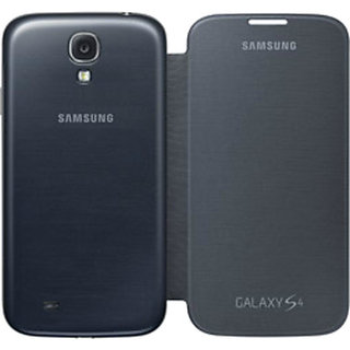 Ready flip cover for Samsung  galaxy S4 Black+data cable