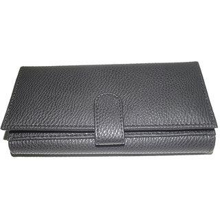 Artificial Black Pu Leather Ladies Wallets LW0504BLPU