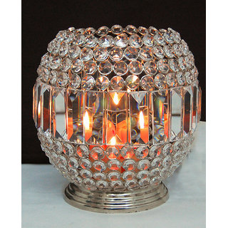 Crystal Ball Tea Light Holder