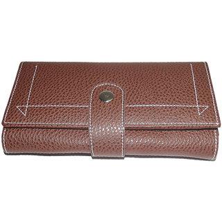 New Brown Pu Leather Ladies Wallets LW0502BRPU