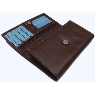 Artificial Brown Pu Leather Ladies Wallets LW0506BR