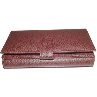 Fashionable Brown Pu Leather Ladies Wallets LW0504BR