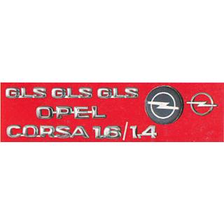 LOGO OPEL CORSA MONOGRAM EMBLEM CHROME Family Pack