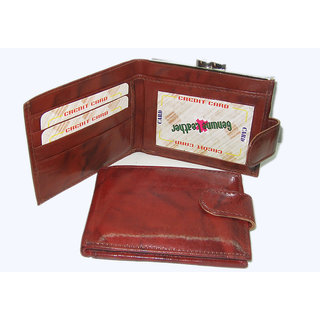 Genuine Brown Leather Ladies Wallets LW0508BR