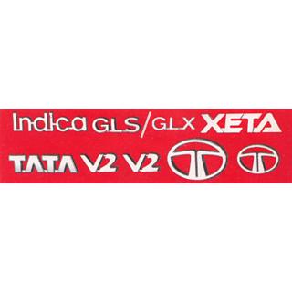 LOGO TATA INDICA XETA MONOGRAM EMBLEM CHROME Family Pack