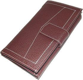 New Brown Pu Leather Ladies Wallets LW0503BR