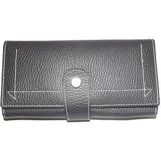 New Black Pu Leather Ladies Wallets LW0502BLPU