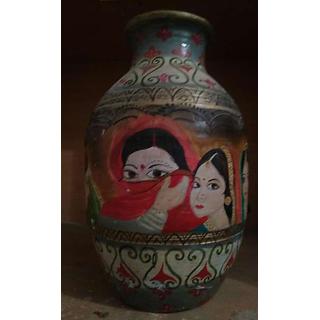 Beautiful painted flower pot