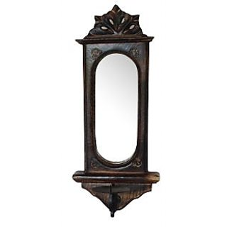 Wooden Big Candle Stand For Wall Mirror Antique Style