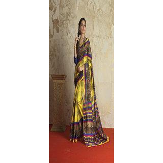 Jiya Presents Printed Bhagalpuri silk  Saree
