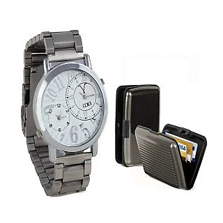 COMBO OF LIME WATCH &CARD HOLDER-AVW23-CARD