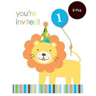 Sweet At One - Boy Invitations-8Pcs