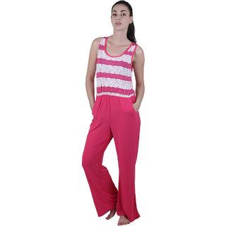 Vixenwrap Hot Pink Stripes Lycra Jumpsuit