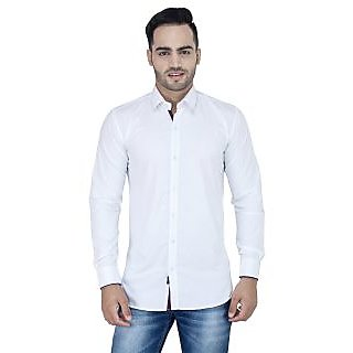 Stylox Men's White Regular Casual Shirt