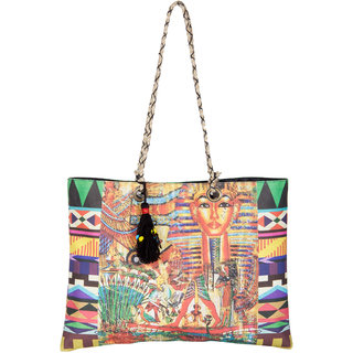 THOT Printed Canvas Handbag 266