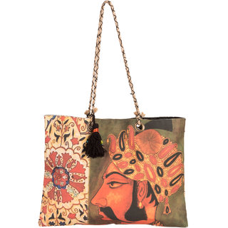 THOT Printed Canvas Handbag 295