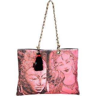 THOT Printed Canvas Handbag 273
