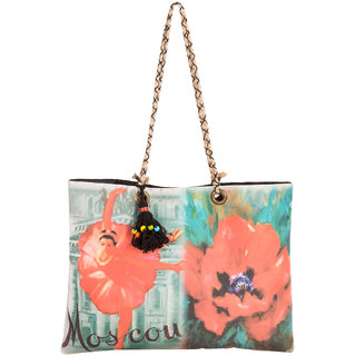THOT Printed Canvas Handbag 302