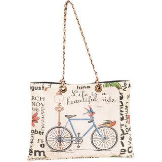 THOT Printed Canvas Handbag 300