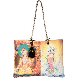 THOT Printed Canvas Handbag 270