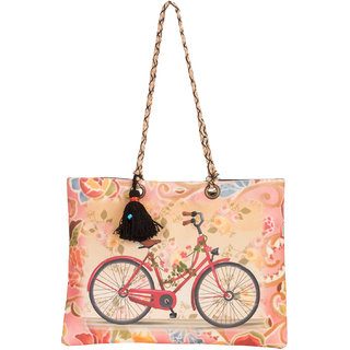 THOT Printed Canvas Handbag 297