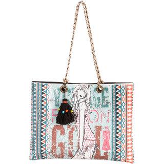 THOT Printed Canvas Handbag 289