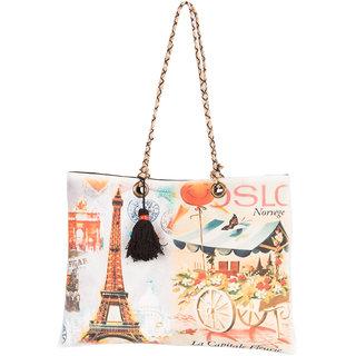THOT Printed Canvas Handbag 294