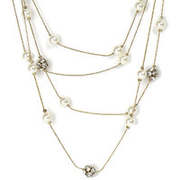 The Pari Statuesque Golden Necklace