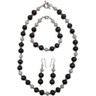 Pearlz Ocean Freshwater Pearl 3-Pieces Necklace Set