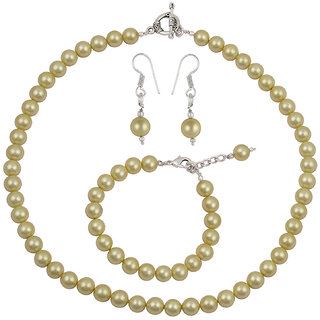 ccbe1d76f5b52 Pearlz Ocean Orange Taiwan Pearl Necklace Set