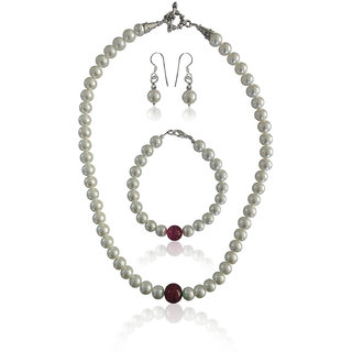 Miss Elegant Shell Pearl Necklace Set