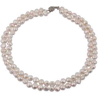Pearlz Ocean  Magic Marvels White Fresh Water Pearl 18 Inches Necklace