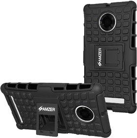 AMZER Back Cover For Micromax YU Yuphoria YU5010 - Black (Hybrid Warrior Case)