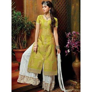 Saree Mall Green Printed Plazo with Matching Dupatta KSM30010