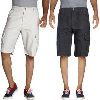 London Bee Men's Cargo Shorts Combo pack  MSLBCP004
