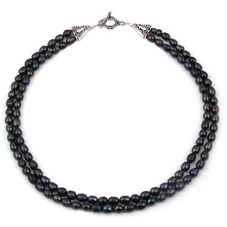 Pearlz Ocean Sublime Beauty Dyed Fresh Water Pearl 18 Inches Necklace