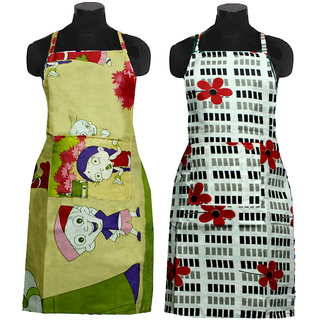 Little Joy Floral Cotton Printed Apron (Buy 1 Get 1)