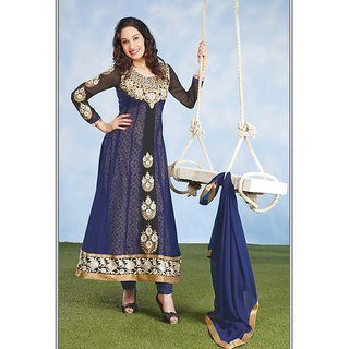 Florence Beige Cotton Lace Salwar Suit Dress Material