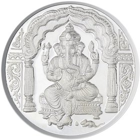 Chahat Jewellers Silver 5gms Ganesh Coin