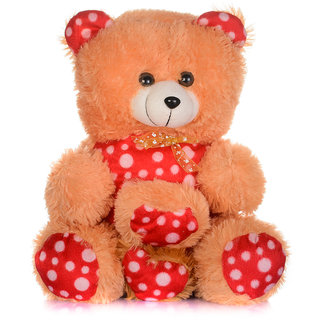 Arihant Online Brown Teddy Bear with two small heart