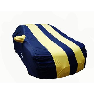 Autosun Carmate Pearl Heavy Duty Material Car Cover Tata Indica Vista (Blue & Yellow)
