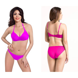b2fa102ed2 Women s Bra   Panty Set (mehroon) Prices in India- Shopclues- Online ...