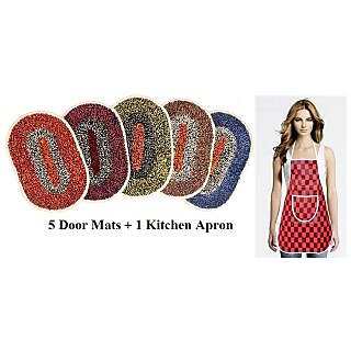 Pack Of 5 Doormats With 1 Apron