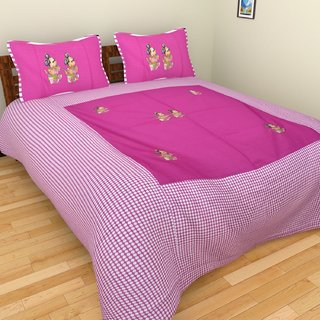 Star Trendz Cotton Abstract Double Bedsheet With 2 Pillow cover.vi548