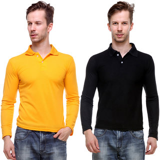 Grand Bear Men'S Multicolor Polo  Neck T-Shirt (Pack Of 2)