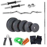 LiveStrong 22 Kg Home Gym,3 Feet Plain Rod,1 Curl Rod,dumbells Rod,accessories
