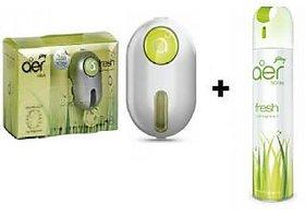 Combo of Godrej Car Ac Vent Perfume (Green) +Godrej Car,Home Air Spray (Green)