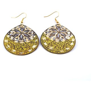 Handmade Brass Sona Earrings